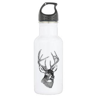 Vintage deer art graphic stainless steel water bottle