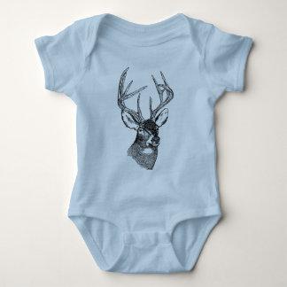 Vintage deer art graphic infant creeper