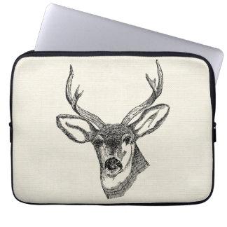 Vintage Deer Computer Sleeve