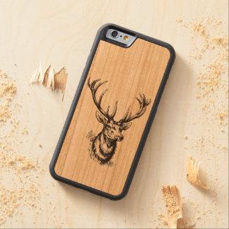 Vintage Deer Head Antlers Carved® Cherry iPhone 6 Bumper