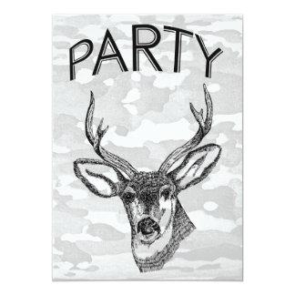 Vintage Deer Hunting graphic Card