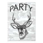 Vintage Deer Hunting graphic Personalized Invites