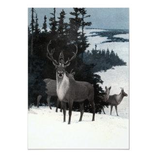 Vintage Deer Custom Invites