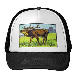 Vintage Deer Print Trucker Hat