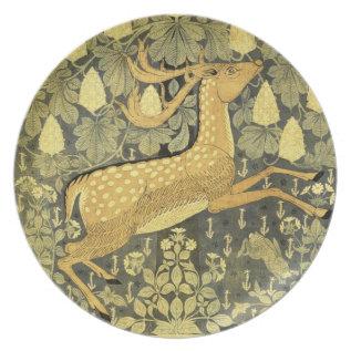 Vintage Deer Rabbit Chestnut Tree 1902 Dinner Plate at Zazzle