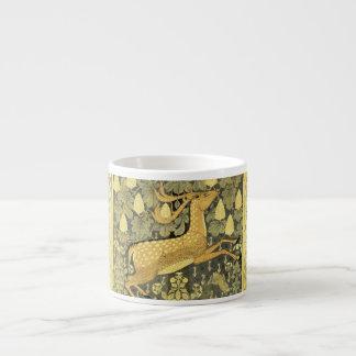 Vintage Deer Rabbit Chestnut Tree 1902 Espresso Cup