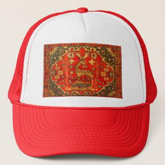 VINTAGE DEER TAPESTRY TRUCKER HAT