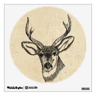 Vintage Deer Wall Decal