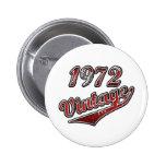 vintage del ` 972 pin redondo 5 cm