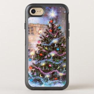 Vintage del árbol de navidad funda OtterBox symmetry para iPhone 7