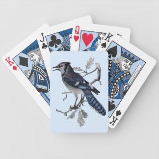 Vintage del arrendajo azul cortado baraja de cartas