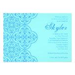 Vintage del azul de Skyler de la invitación de Mit
