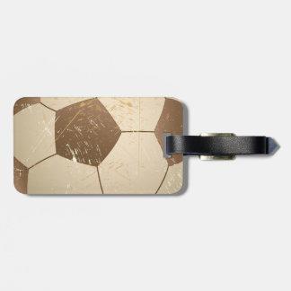 vintage del balón de fútbol etiquetas para maletas