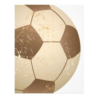 vintage del balón de fútbol membrete