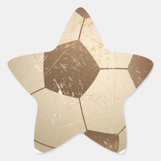 vintage del balón de fútbol pegatinas forma de estrellaes personalizadas