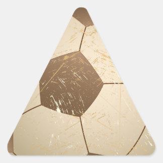 vintage del balón de fútbol colcomanias de triangulo personalizadas