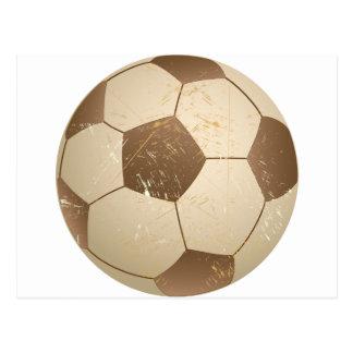 vintage del balón de fútbol postal
