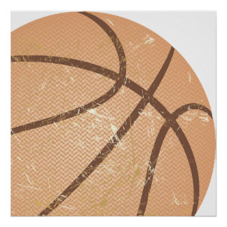 vintage del baloncesto poster