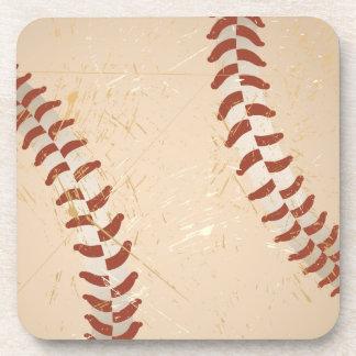 vintage del béisbol posavasos de bebidas
