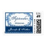 Vintage del blanco del negro del boda de sellos