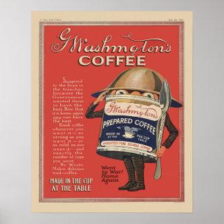 Vintage del café instantáneo WW1 de G Washington p Impresiones