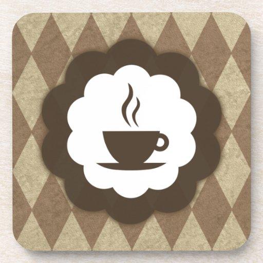 vintage del café posavasos de bebidas
