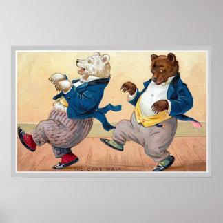 """Vintage """"del cakewald de los osos"""" póster"""