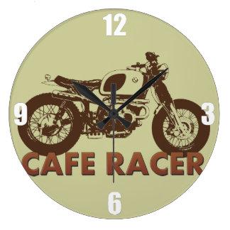 Vintage del corredor del café reloj redondo grande