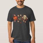 Vintage del cráneo del gato de la calabaza de camisas