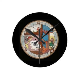 Vintage del cuarto de niños del muelle de Dickory Reloj Redondo Mediano