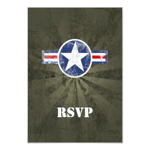 """Vintage del cuerpo de aire del ejército invitación 3.5"""" x 5"""""""