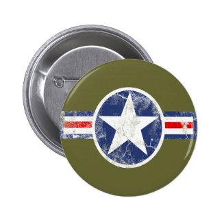 Vintage del cuerpo de aire del ejército pin redondo 5 cm