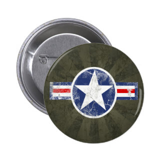 Vintage del cuerpo de aire del ejército pin redondo de 2 pulgadas