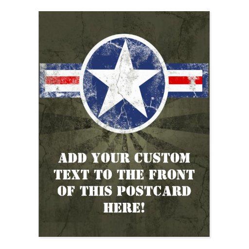 Vintage del cuerpo de aire del ejército tarjeta postal