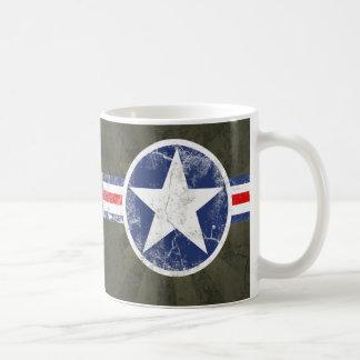 Vintage del cuerpo de aire del ejército taza de café