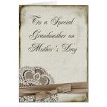 Vintage del día de madre de la abuela felicitaciones