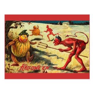 Vintage del diablo rojo tarjetas postales