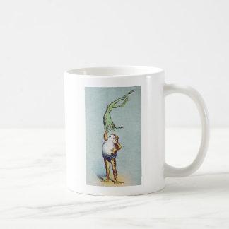 Vintage del ejercicio de equilibrio de la rana taza