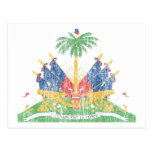 Vintage del escudo de armas de Haití Postal