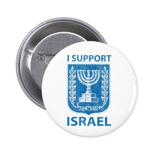 Vintage del escudo de armas de Israel Pin Redondo De 2 Pulgadas