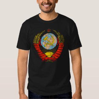 Vintage del escudo de armas de Unión Soviética Playera