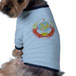 Vintage del escudo de armas de Unión Soviética Ropa Perro