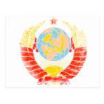 Vintage del escudo de armas de Unión Soviética Postal