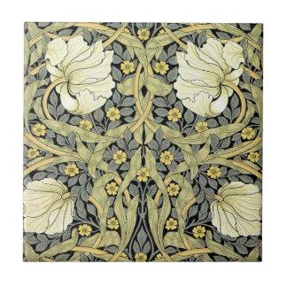 Vintage del estampado de flores del verde amarillo azulejos