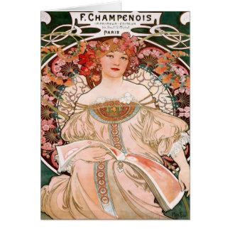 Vintage del francés de Champenois Tarjeta De Felicitación