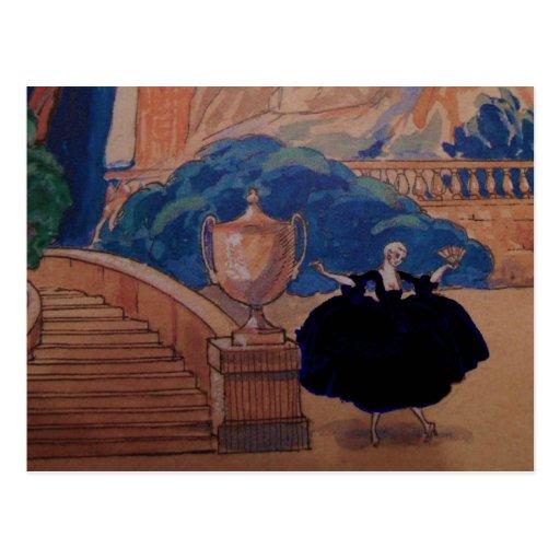Vintage del francés de la postal del ~ de la placa