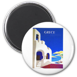 vintage del grece imán redondo 5 cm
