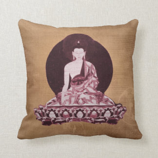 Vintage del Grunge de Shakyamuni Buda Cojín