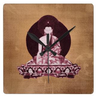 Vintage del Grunge de Shakyamuni Buda Reloj Cuadrado