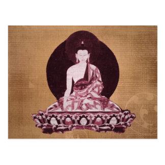 Vintage del Grunge de Shakyamuni Buda Tarjetas Postales